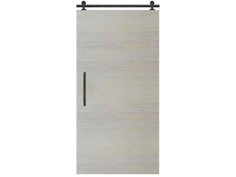 Solid Senza Classico porte coulissante intérieure 211x83 cm chêne blanc