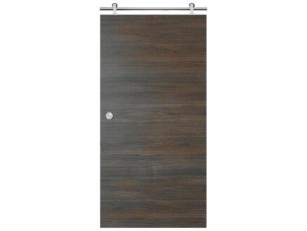 Solid Senza Classico porte coulissante intérieure 211x93 cm chêne anthracite