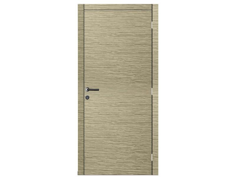 Solid Senza Luce Ceruse porte intérieure 201x73 cm chêne gris clair
