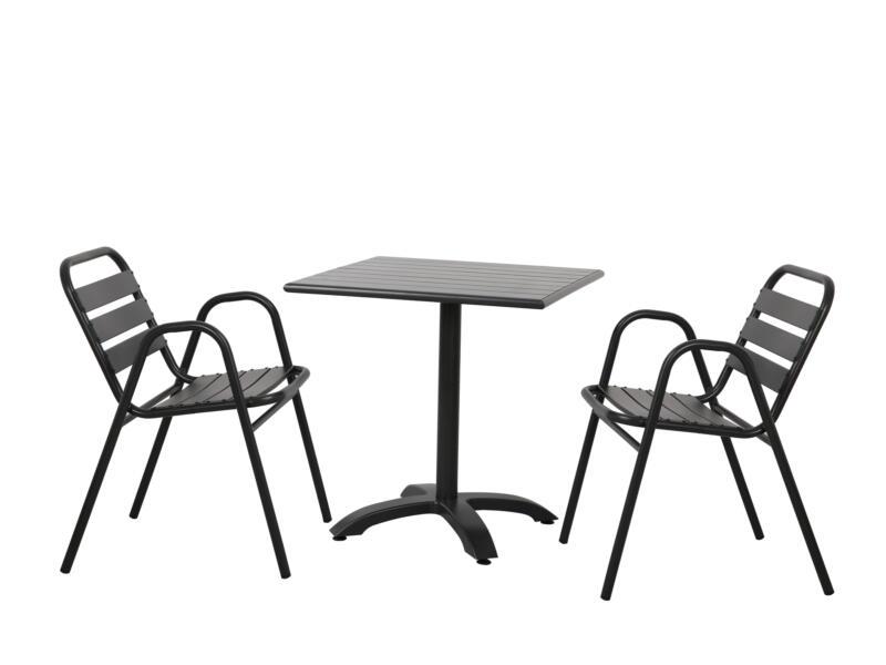 Garden Plus Serra chaise de jardin noir