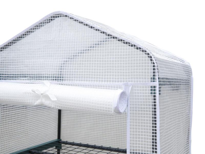 Garden Plus Serre de balcon sur roulettes 69x49x129 cm