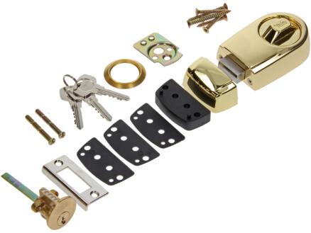Yale Serrure à appliquer Rim Lock avec accessoires de fixation laiton