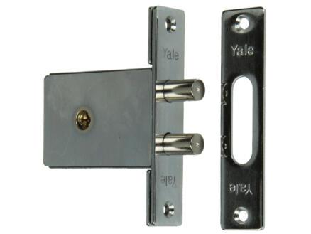 Yale Serrure à mortaiser avec clé en croix dormant double rond avec accessoires de fixation