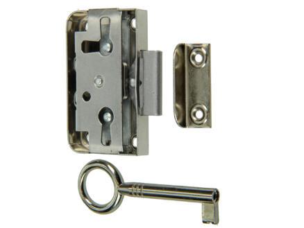 Serrure meuble 15mm avec accessoires de fixation