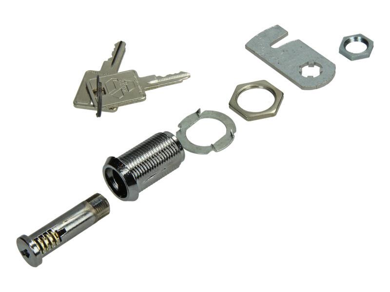 Serrure pour boîte aux lettres cylindre chrome 30mm