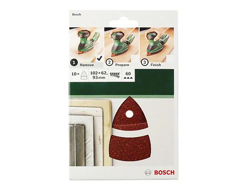 Bosch Set de feuilles abrasives pour ponceuse multifonction 102 x 62/93