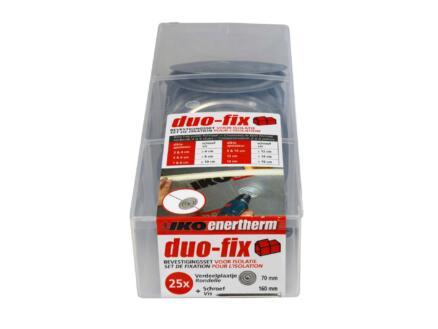 Enertherm Set de fixation Duo-fix 16cm 25 pièces