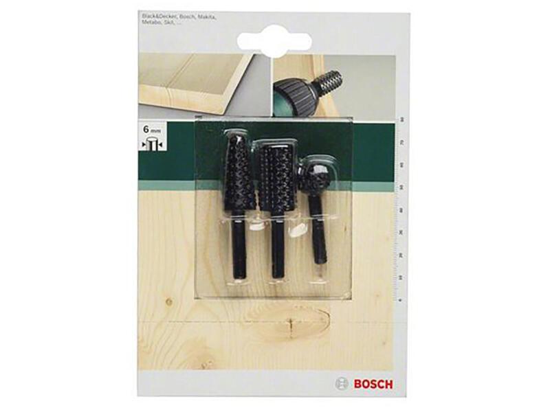 Bosch Set de râpes à bois machine 3 pièces