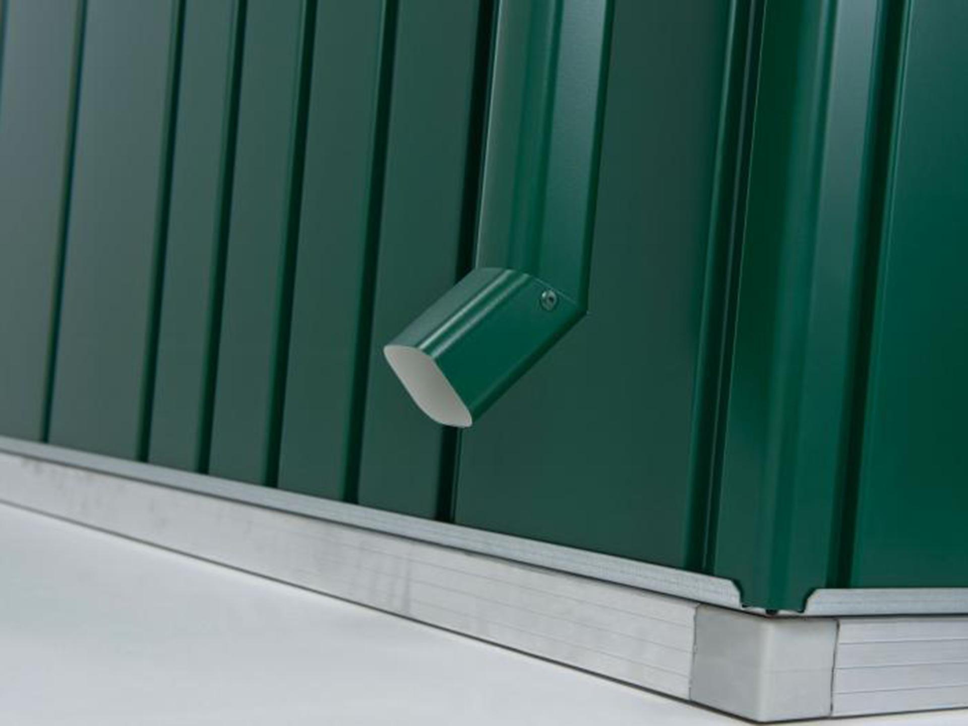 Hubo abri de jardin highline h1 porte double blanc for Porte jardin pvc blanc