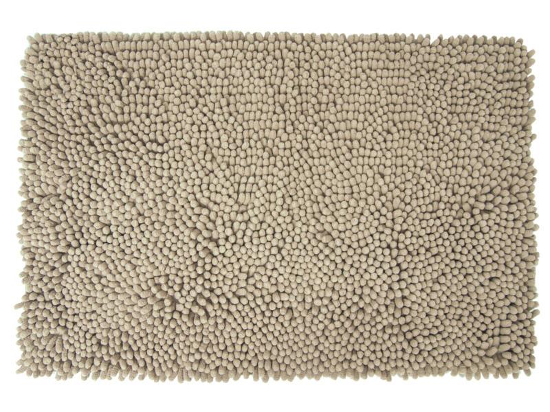Differnz Shaggy badmat 90x60 cm taupe