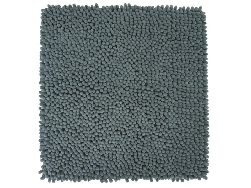 Differnz Shaggy tapis de bain 60x60 cm gris