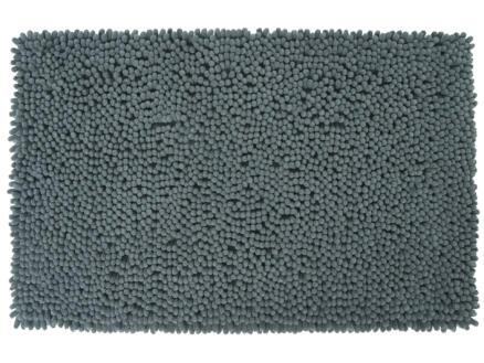Differnz Shaggy tapis de bain 90x60 cm gris