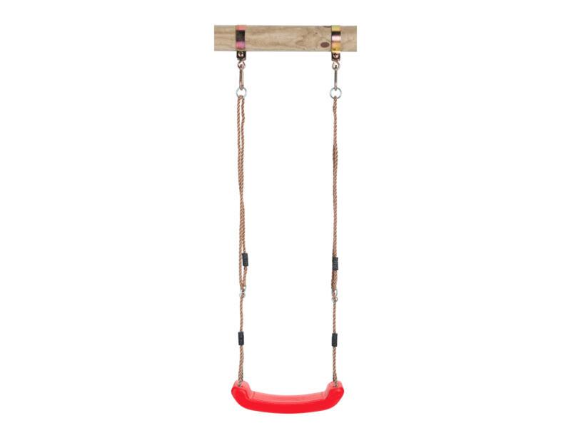Siège de balançoire 43cm matière synthétique rouge
