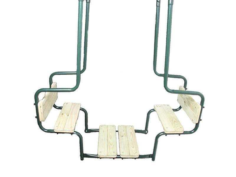 Siège de balançoire double face à face bois/métal vert
