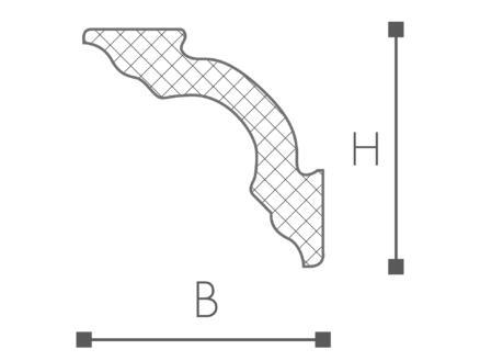 Sierlijst D12 polystyreen