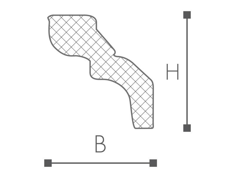 Sierlijst D13 polystyreen