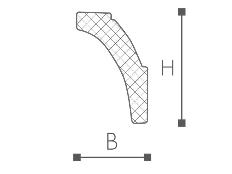 Sierlijst/Plint C6 HDPS
