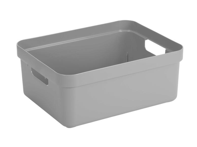 Sunware Sigma Home bac de rangement 24l gris clair