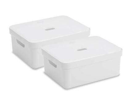 Sunware Sigma Home boîte de rangement 24l blanc 2 pièces + couvercle