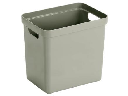 Sunware Sigma Home boîte de rangement 25l vert clair 2 pièces + couvercle