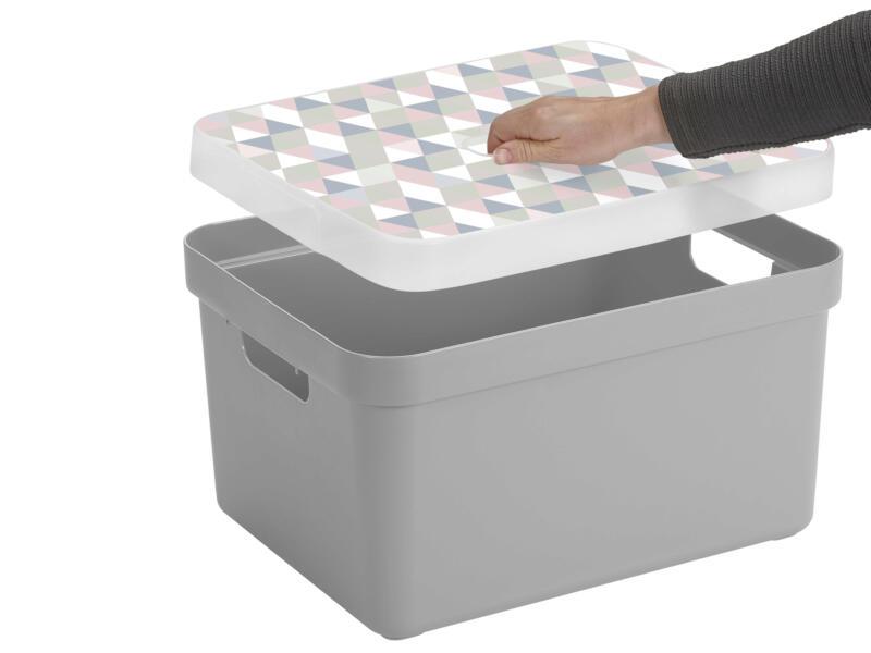 Sunware Sigma Home boîte de rangement 32l gris clair