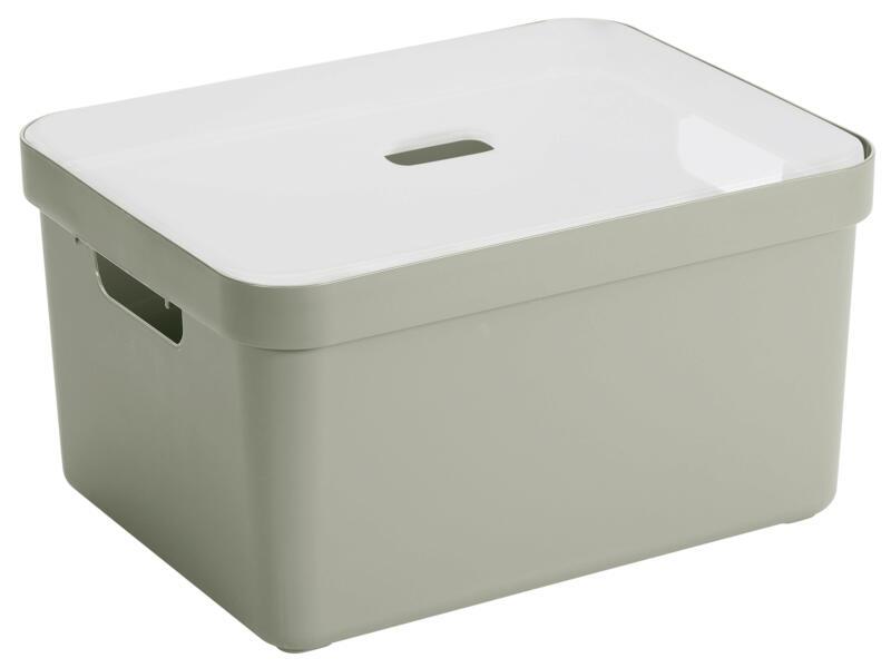 nouveau produit e5e1a ce2a4 Sunware Sigma Home boîte de rangement 32l vert clair