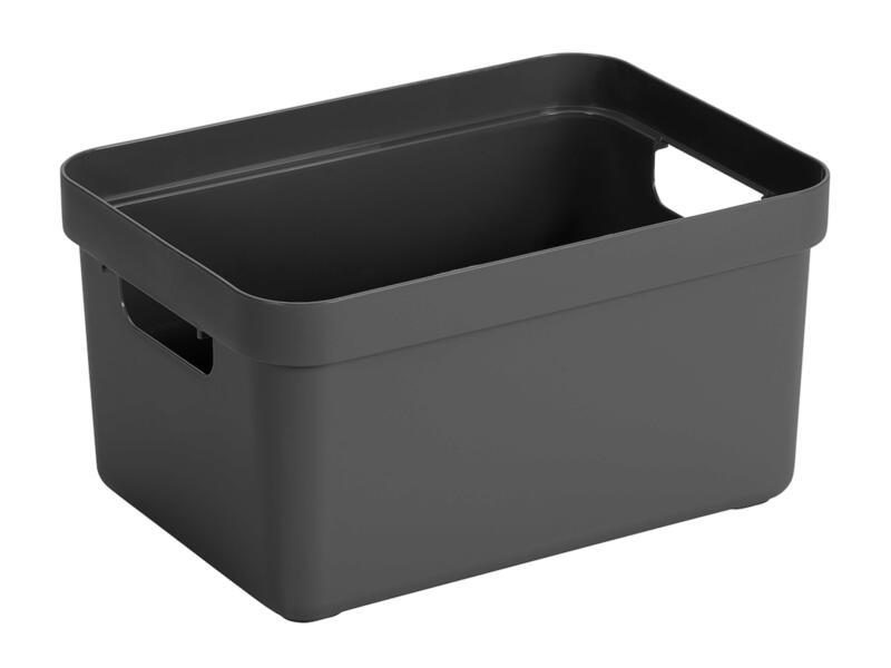Sunware Sigma Home boîte de rangement 5l anthracite 3 pièces + couvercle