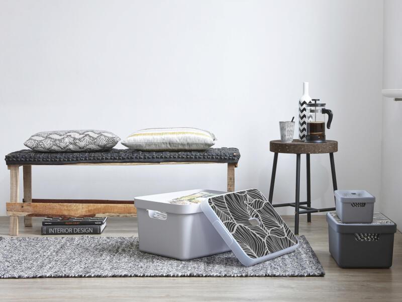 Sunware Sigma Home boîte de rangement 5l gris clair 3 pièces + couvercle