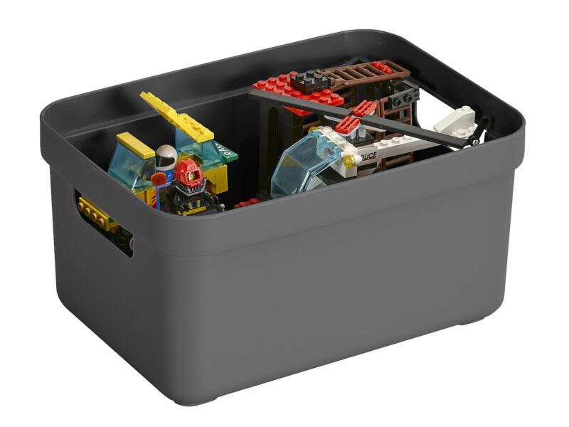 Sunware Sigma Home opbergbox 5l antraciet 3 stuks + deksel