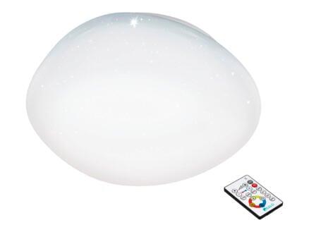 Eglo Sileras LED plafondlamp 34W 60cm dimbaar wit kristal + afstandsbediening
