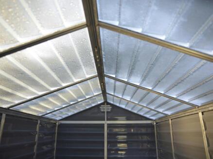 Palram Skylight abri de jardin 185,4x228,6x217 cm résine gris foncé