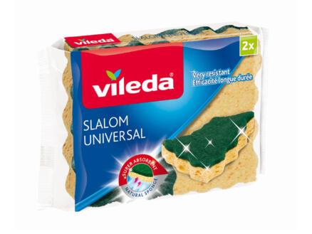 Vileda Slalom Universal éponge à récurer 2 pièces