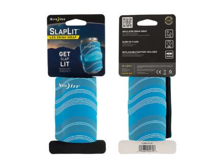 Nite Ize SlapLit manchon isolant LED pour canette bleu