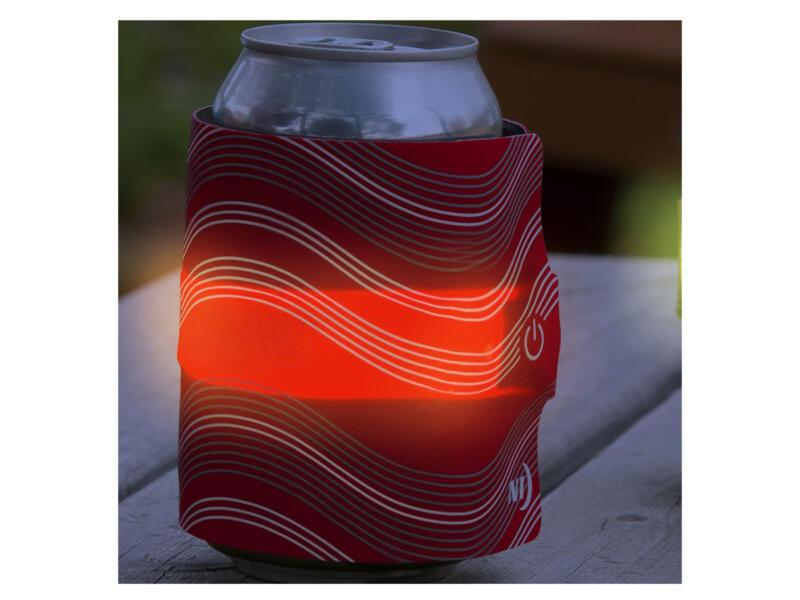 SlapLit manchon isolant LED pour canette rouge