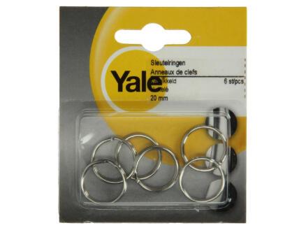 Yale Sleutelring 20mm 6 stuks
