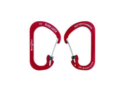 Nite Ize SlideLock karabijnhaak 50,8x81,28 mm aluminium rood