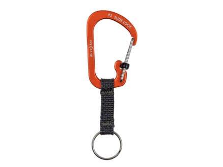 Nite Ize SlideLock sleutelring met karabijnhaak oranje
