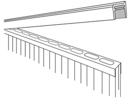 Scala Sluitprofiel 210cm 16mm aluminium