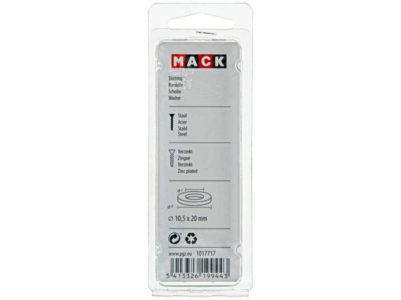 Mack Sluitringen 10,5x20 mm verzinkt 20 stuks