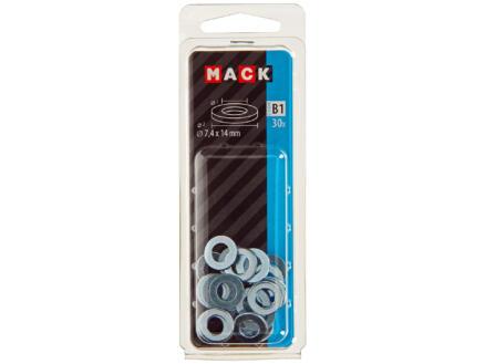 Mack Sluitringen 7,4x14 mm verzinkt 30 stuks