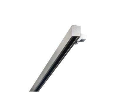 Smart gordijnrail 18x14 mm 160cm inox