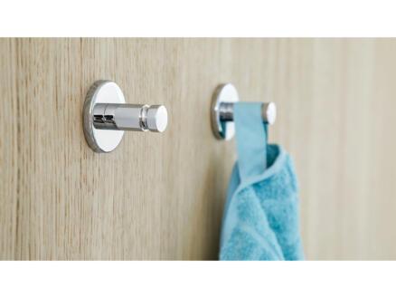 Tesa Smooz handdoekhaakje chroom zelfklevend 37x37 mm