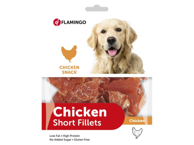 Flamingo Snack chien blanc de poulet séché 170g court