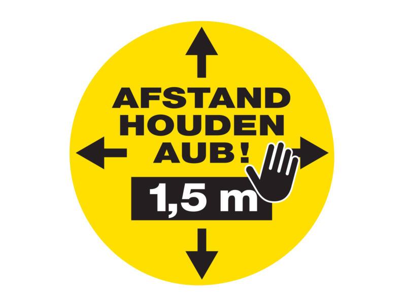 Social Distance autocollant de marquage au sol afstand houden aub! 1,5m 43cm 5 pièces