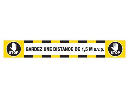 Social Distance vloersticker gardez une distance de 1,5m s.v.p. 14x100 cm 5 stuks