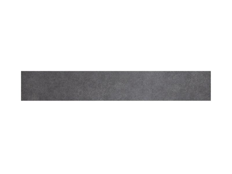 Soft keramische plint 7,2x45 cm dark grey 2,25lm/doos