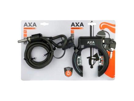 Axa Solid Plus antivol de cadre + Newton PI150 câble antivol plug in