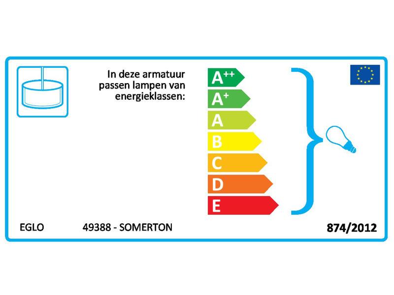 Eglo Somerton hanglamp E27 max. 60W koper