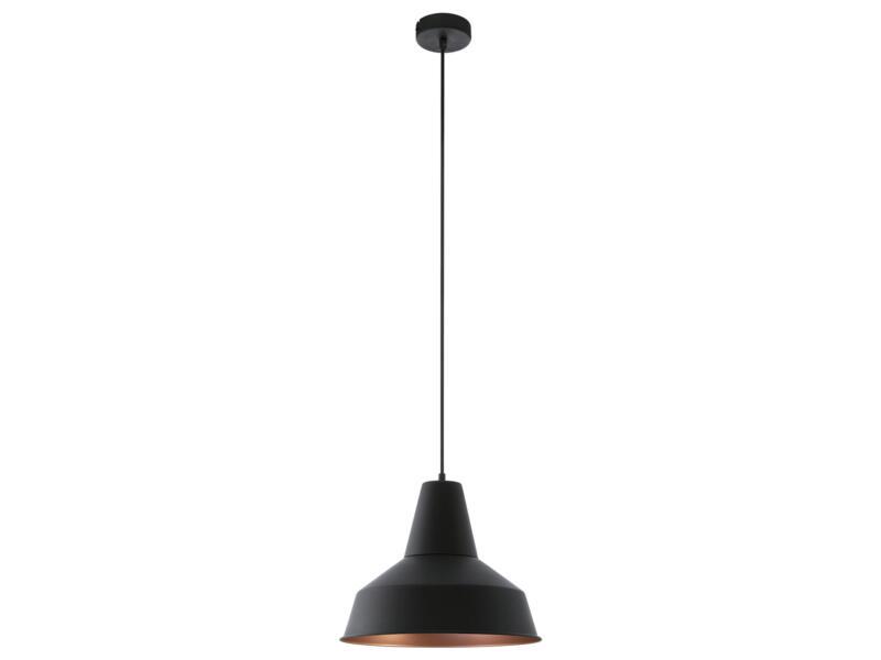 Eglo Somerton hanglamp E27 max. 60W zwart/koper