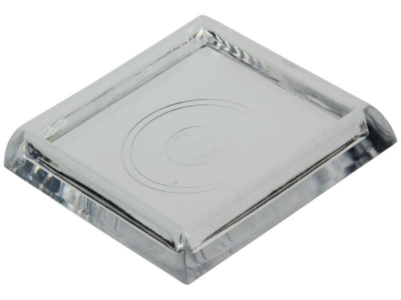 Mack Sous-pied 46x46 mm transparent 4 pièces